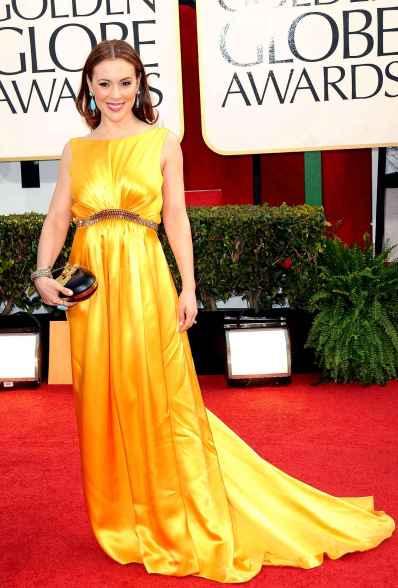 Alyssa, la reine des robes de soirée au Golden Globe 2013