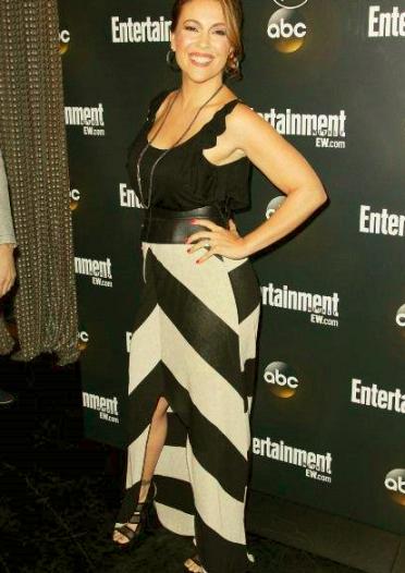 Alyssa Milano, son look super chic avec des robes de soirée de star