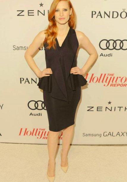 88524db43f9 Le look et les robes de soirée de la magnifique et sublime Jessica Chastain