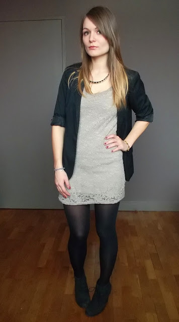 Look robe fleurie hiver
